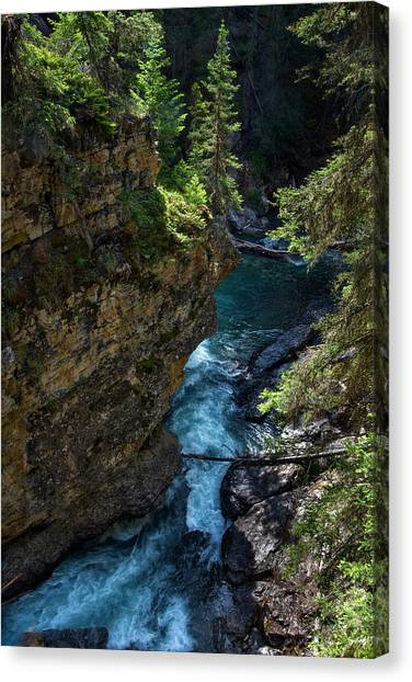 Johnson Canyon In Banff National Park, Canada Canvas Print
