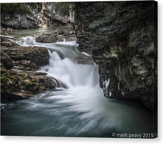 Johnson Canyon Waterfall Canvas Print