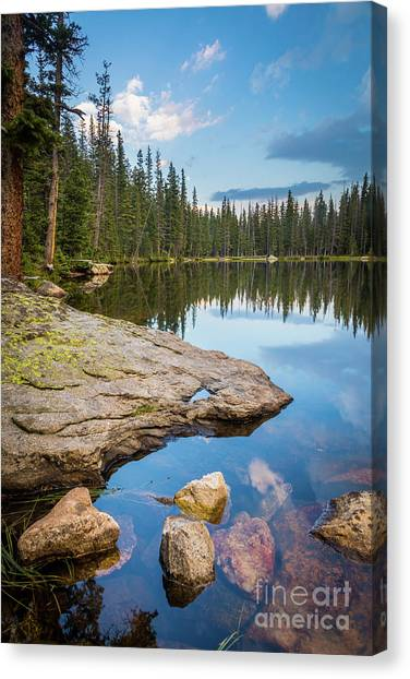 Cloud Forests Canvas Print - Johnson Lake Shoreline by Inge Johnsson