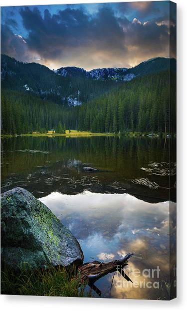 Cloud Forests Canvas Print - Johnson Lake Twilight by Inge Johnsson