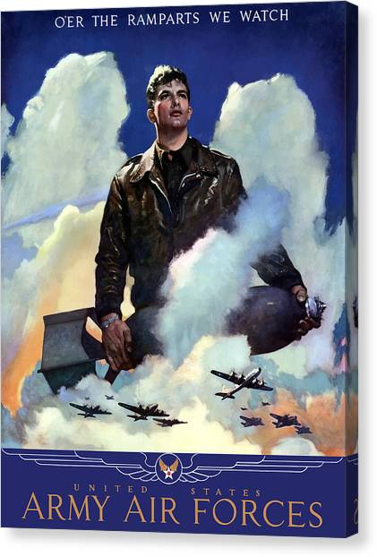 Pilots Canvas Print - Join The Army Air Forces by War Is Hell Store