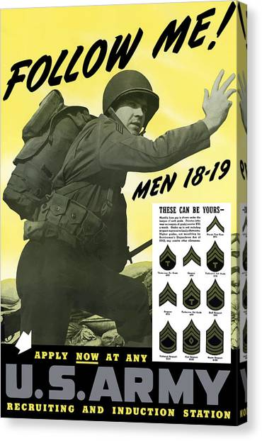 Join Canvas Print - Join The Us Army - Follow Me by War Is Hell Store