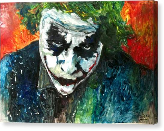 Heath Ledger Canvas Print - Joker - Heath Ledger by Marcelo Neira