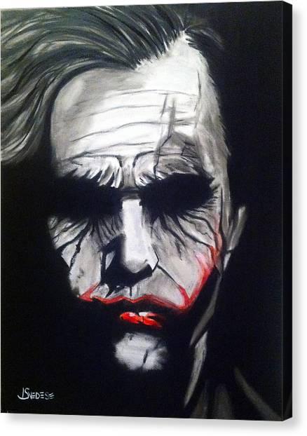 Heath Ledger Canvas Print - Joker by John Svedese