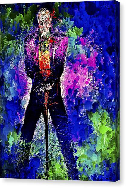 Joker Night Canvas Print