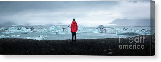 Glacier Bay Canvas Print - Jokulsarlon  by Michael Ver Sprill