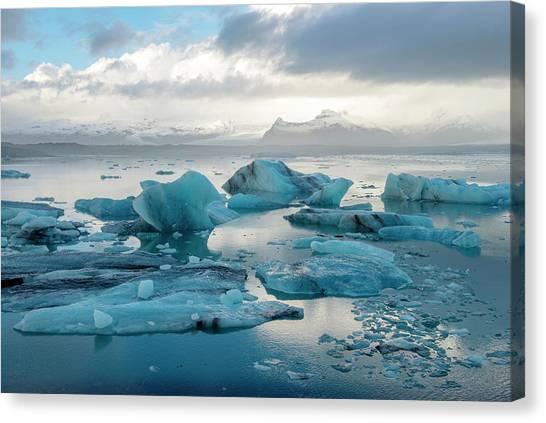 Jokulsarlon, The Glacier Lagoon, Iceland 6 Canvas Print