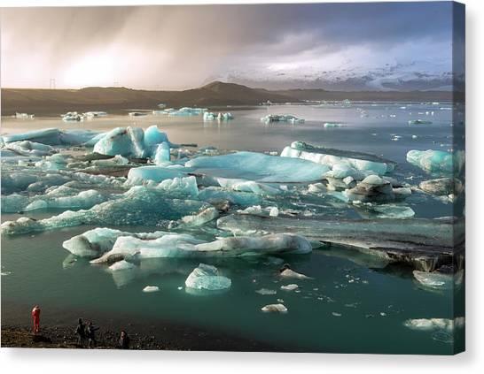 Jokulsarlon The Magnificent Glacier Lagoon, Iceland Canvas Print