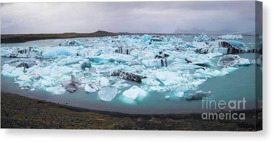 Glacier Bay Canvas Print - Jokusarlon Panorama  by Michael Ver Sprill