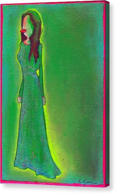 Jolie Green Canvas Print