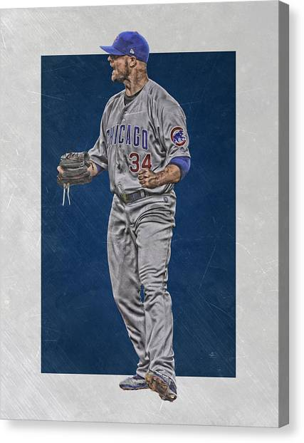 Chicago Cubs Canvas Print - Jon Lester Chicago Cubs Art by Joe Hamilton