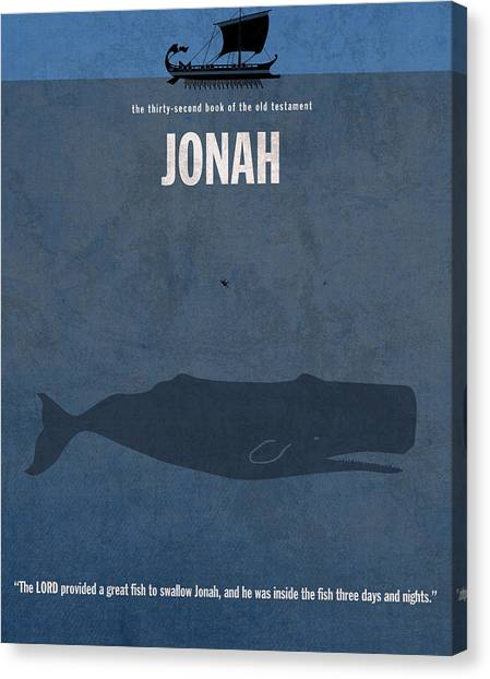 Jonah Canvas Print - Jonah Books Of The Bible Series Old Testament Minimal Poster Art Number 32 by Design Turnpike