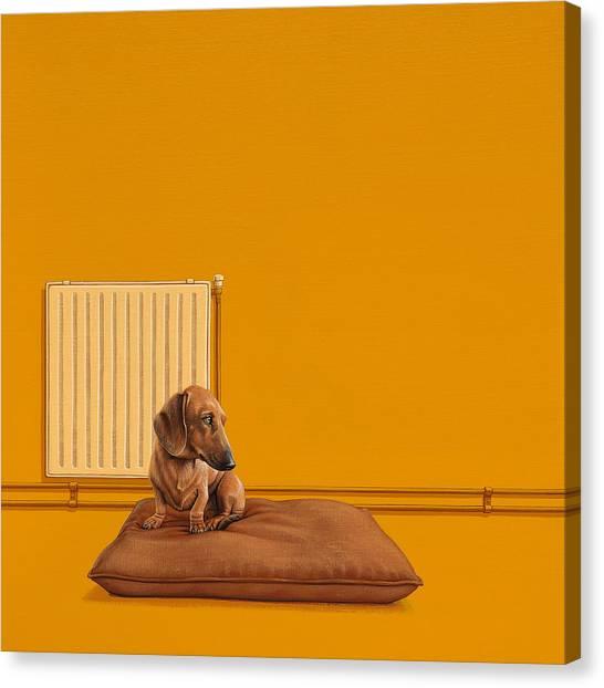 Dog Canvas Print - Jonas by Jasper Oostland