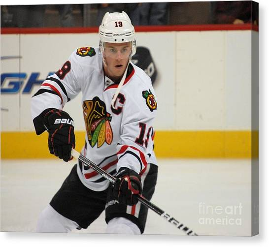 Jonathan Toews - Action Shot Canvas Print
