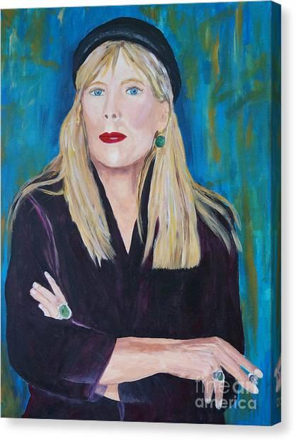 Joni Mitchell Canvas Print - Joni M by Frankie Picasso