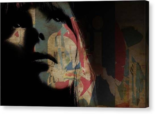 Joni Mitchell Canvas Print - Joni Mitchell Art  by Paul Lovering