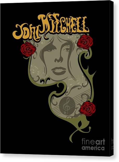 Joni Mitchell Canvas Print - Joni Mitchell by Elena Simmons
