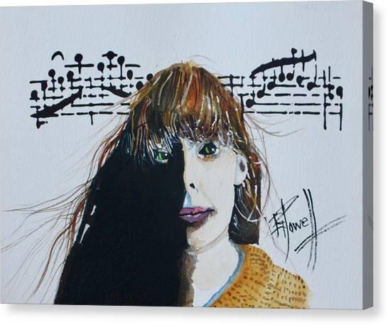 Joni Mitchell Canvas Print - Joni Mitchell by George Powell