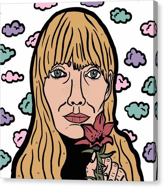 Joni Mitchell Canvas Print - Joni Mitchell by Nicole Wilson