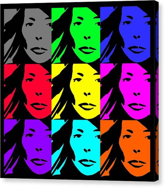 Joni Mitchell Canvas Print - Joni  by Pat Whittle