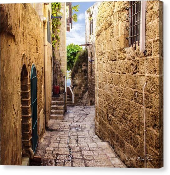 Joppa Israel Passageway Canvas Print