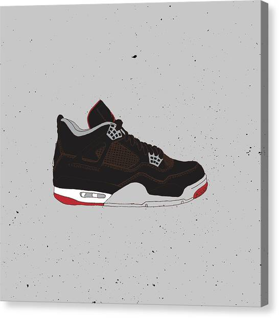 new concept 935ee 5a859 Sneakerhead Canvas Print - Jordan 4 Black Cement by Letmedraw Yourpicture