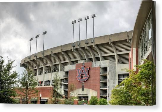 Auburn University Canvas Print - Jordan Hare Stadium by JC Findley