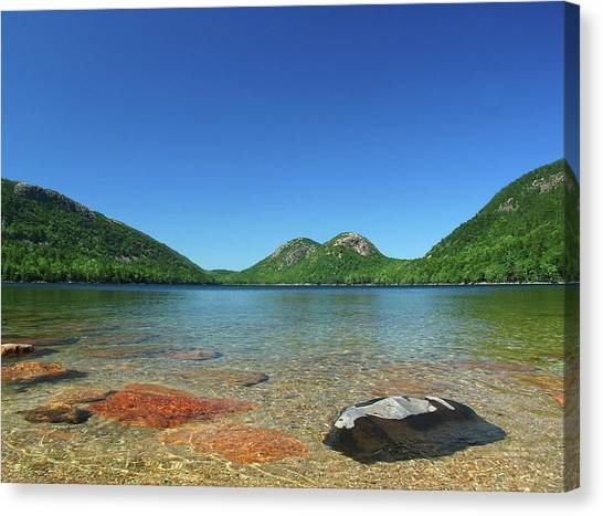 Jordan Pond And The Bubbles Canvas Print by Juergen Roth