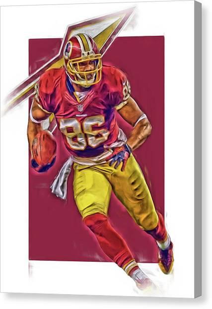 Washington Redskins Canvas Print - Jordan Reed Washington Redskins Oil Art by Joe Hamilton