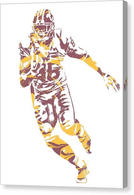 Washington Redskins Canvas Print - Jordan Reed Washington Redskins Pixel Art 5 by Joe Hamilton