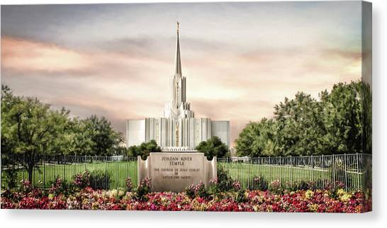River Jordan Canvas Print - Jordan River Temple by Brent Borup