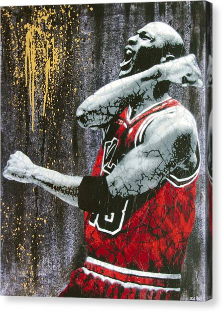 Athlete Canvas Print - Jordan - The Best There Ever Was by Bobby Zeik