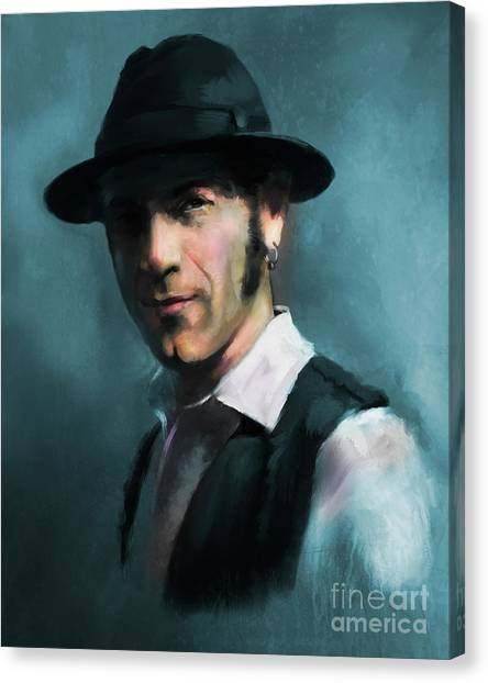 Canvas Print featuring the digital art Mr. Marin by Dwayne Glapion