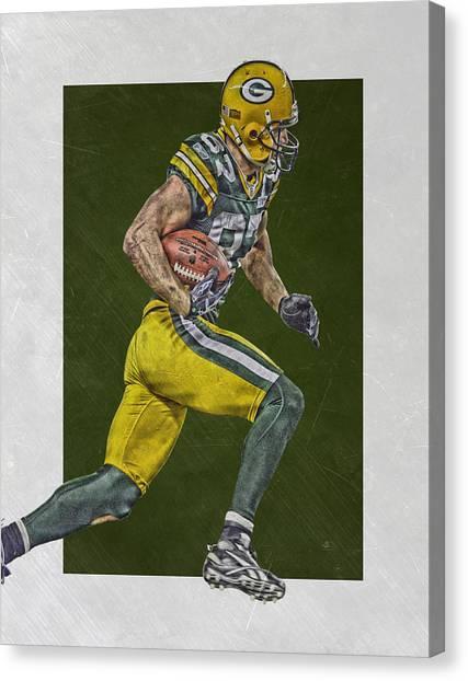 Green Bay Packers Canvas Print - Jordy Nelson Green Bay Packers Art by Joe Hamilton