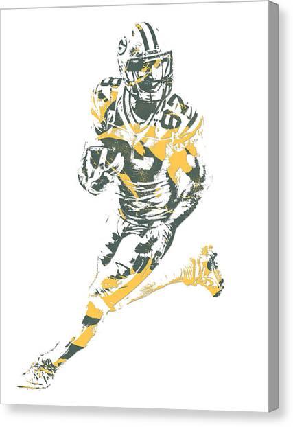Green Bay Packers Canvas Print - Jordy Nelson Green Bay Packers Pixel Art 10 by Joe Hamilton