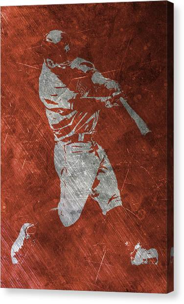 Houston Astros Canvas Print - Jose Altuve Houston Astros Art by Joe Hamilton