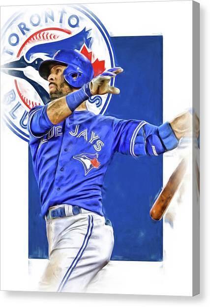 Toronto Blue Jays Canvas Print - Jose Bautista Toronto Blue Jays Oil Art by Joe Hamilton