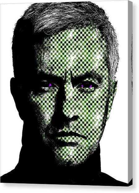 Real Madrid Canvas Print - Jose Mourinho by Emme Pons