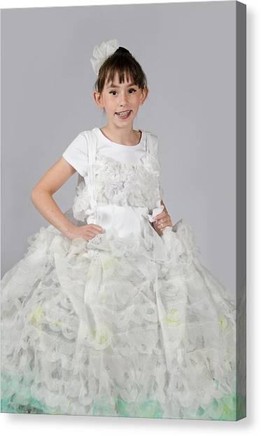 Josette In Dryer Sheet Dress Canvas Print