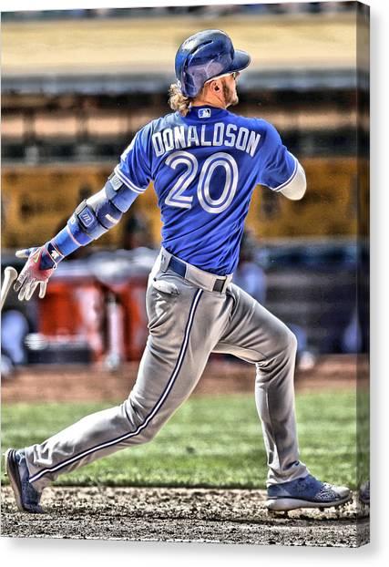 Toronto Blue Jays Canvas Print - Josh Donaldson Toronto Blue Jays by Joe Hamilton