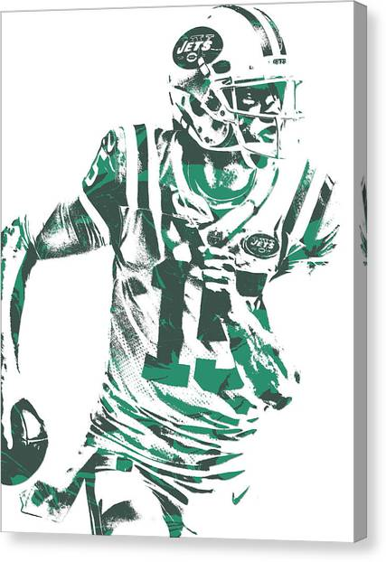New York Jets Canvas Print - Josh Mccown New York Jets Pixel Art 1 by Joe Hamilton