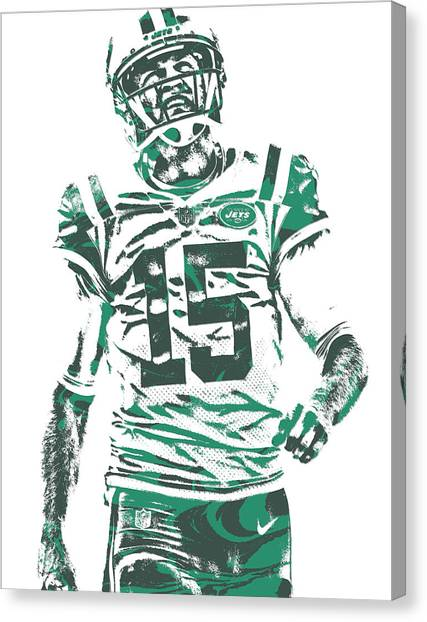 New York Jets Canvas Print - Josh Mccown New York Jets Pixel Art 2 by Joe Hamilton