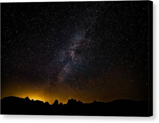 Canvas Print featuring the photograph Joshua Tree's Fiery Sky by T Brian Jones