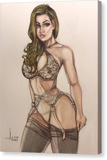 Josie Pinup Canvas Print