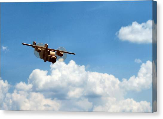 Toy Airplanes Canvas Print - Jouet Escadrille - 1 by Lin Grosvenor