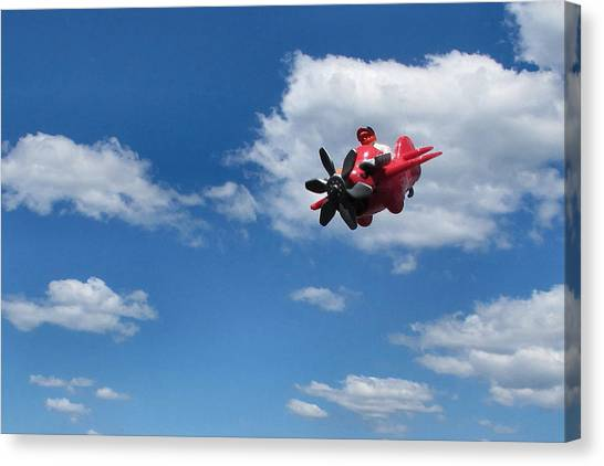Toy Airplanes Canvas Print - Jouet Escadrille - 2 by Lin Grosvenor