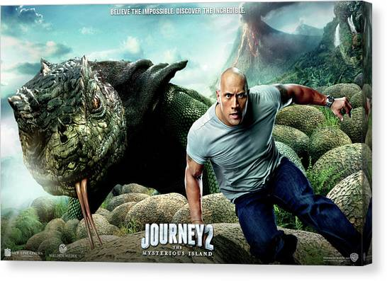 Triceratops Canvas Print - Journey 2 The Mysterious Island by Maye Loeser