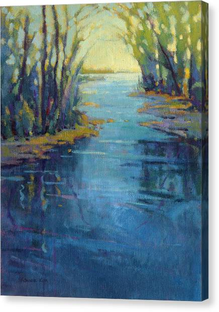 Canvas Print featuring the painting Journey Home by Konnie Kim