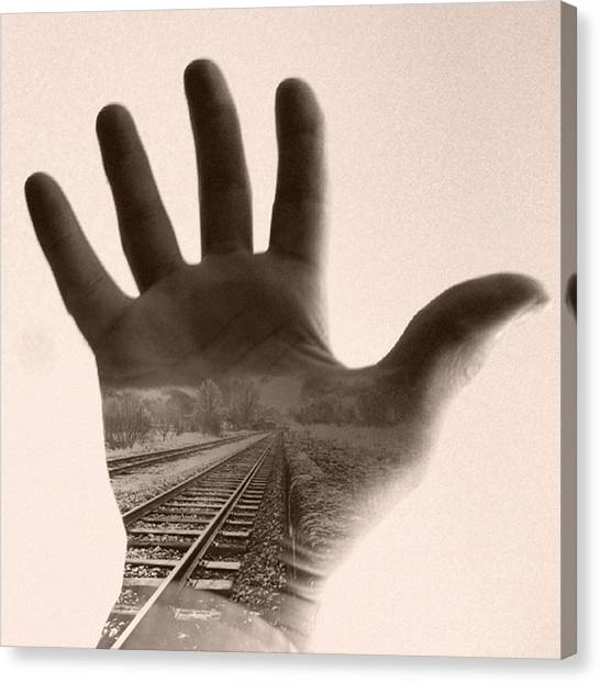 Hands Canvas Print - journey II #abstract #composite by Steve Wilkinson