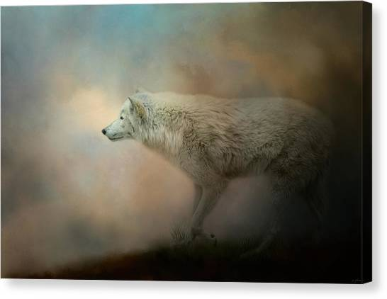 Arctic Wolf Canvas Print - Journey Of The Timber Wolf by Jai Johnson